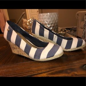 Life Stride striped wedge heels